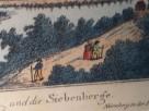 Barwna grafika z widokiem na Godesberg i 7 wzgórz nad Renem - 7