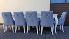 Krzesło pikowane z kolatką Noga LUDWIK Producent nowe - 6