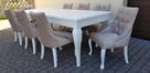 Krzesło pikowane z kolatką Noga LUDWIK Producent nowe - 5
