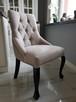 Krzesło pikowane z kolatką Noga LUDWIK Producent nowe - 8