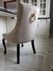 Krzesło pikowane z kolatką Noga LUDWIK Producent nowe - 7