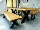 Meble industrialne ,dębowe ,ogrodowe stół ławka do jadalni
