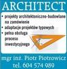 Architect - biuro projektowe, kierownik budowy