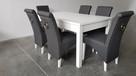 Krzesło krzesła nowe tapicerowane białe siwe z kołatką
