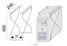 Sove wózek pod komputer regulowana szerokość - 3