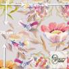 Materiał z nadrukiem wzoru: Stylowy wzór kwiatowy