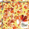 Materiał z nadrukiem wzoru: Kwiaty w kolorze bursztynowym