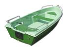 Łódka wiosłowa Łódki Aga 360 zielona wędkarska