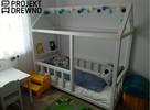 SZYBKA REALIZACJA Drewniane łóżeczko dla dzieci / House Bed