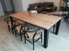 Stół dębowy rozkładany 3 m blat 8 cm Loft industrial Transpo - 7
