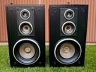 Kolumny głośnikowe drewniane czarne