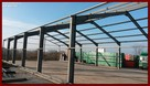 Konstrukcja stalowa hali o wymiarach 15x40x4,6m