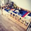 Drewniane łóżko dla dziecka w stylu skandynawskim/Scandi bed