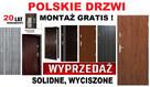 Zewnętrzne drzwi wejściowe z montażem do mieszkania w bloku