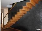 Schody dywanowe drewniane dębowe