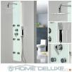 HOME-DELUXE Panel prysznicowy z deszczownicą biały czarny Środa Wielkopolska