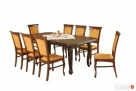 Duży zestaw IMPERIUM |stół + 8 krzeseł |KLASYKA