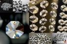 Kryształki - ośmiokąty kryształowe - 10 szt- 14 mm