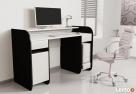 Nowoczesne biurko komputerowe Detalion dwu kolorowe blws - 2