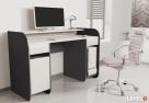 Nowoczesne biurko komputerowe Detalion dwu kolorowe blws - 1