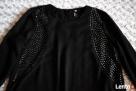 Czarna bluzka metalowe zdobienia 36 H&M - 3