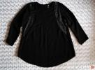 Czarna bluzka metalowe zdobienia 36 H&M - 1