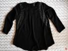 Czarna bluzka metalowe zdobienia 36 H&M - 2
