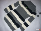 TUNIKA Sweter SUPER Splot Pompon NOWA S M - 1