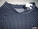 H&M spódnica NOWA Granat Jersey Paseczki HIT 40 L 42 XL - 7