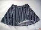 H&M spódnica NOWA Granat Jersey Paseczki HIT 40 L 42 XL - 4