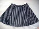 H&M spódnica NOWA Granat Jersey Paseczki HIT 40 L 42 XL - 1