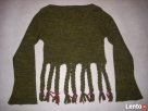 Lost Girl Sweter łódka Frędzle Khaki j Nowy 36 38 - 4