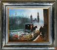 obraz olejny pejzaż 35 x 40 Limanowa