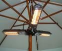 Lampa grzewcza do parasoli ogrodowych składana Stalgast - 2