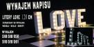 Mega Podświetlany Napis LOVE 120 cm na wesele ślub zaręczyny - 4