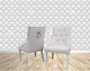 Krzesło z kołatką pinezkami pikowane tapicerowane nowe - 1