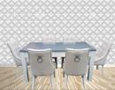 Krzesło z kołatką pinezkami pikowane tapicerowane nowe - 5