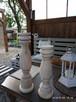 Dekoracje świeczniki toczone drewniane wyroby Rękodzieło - 5