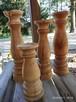 Dekoracje świeczniki toczone drewniane wyroby Rękodzieło - 4