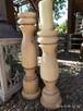 Dekoracje świeczniki toczone drewniane wyroby Rękodzieło - 7