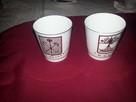 2kieliszki porcelanowe