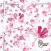 Materiał z nadrukiem: Delikatne różowe kwiaty
