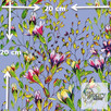Materiał z nadrukiem: Pnące kwiaty wśród liści - seria 3