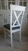 Krzesło krzesła tapicerowane Krzyż prowansalskie białe nowe - 2