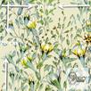 Materiał z nadrukiem: Pnące kwiaty wśród liści - seria 5