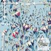 Materiał z nadrukiem wzoru: Pnące kwiaty wśród liści seria 2