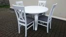 Krzesło krzesła tapicerowane Krzyż prowansalskie białe nowe - 3