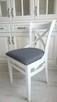 Krzesła krzesło tapicerowane Krzyż białe Producent nowe