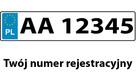 Naklejka - numer rejestracyjny na naczepę 150x30