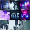 DJ/Wodzirej,doświetlenie sali,napis LOVE